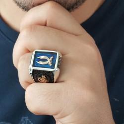 Luca Barra Collana in acciaio con madreperla e re scacchi rosè design Made in Italy